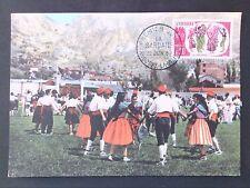 Andorra Mk 1963 la sardane Trachten costumes maximum mapa maximum card mc cm d47