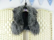 FAUX FUR grey super soft  lined fluffy cute boho/festival cropped gilet S/M