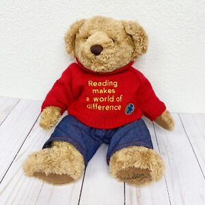 """Barnes & Noble Bradford Jr. Bear with Red Sweater Limited Edition Plush 12"""""""