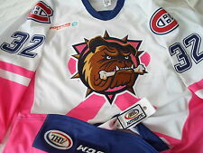 Magnus Nygren 2015 Hamilton Bulldogs Pink in the Rink AHL Authentic Game Jersey