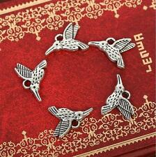 18pcs Antique silver flying bird Charm pendants F0048