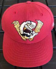 Vintage 90s Williamsport Crosscutters New Era 100% Wool Hat Cap USA Made