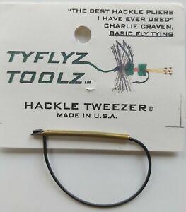 """TYFLYZ  TOOLZ   """"   Hackle Tweezer   """"   FLY TYING TOOL"""
