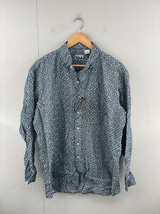 Key Elements Men's NWT Long Sleeve Casual Shirt Size XL Green Geometric New