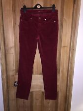 """Cambio Parla Red Cotton Skinny Trousers Size W32"""" L32"""" *K2+"""