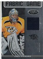 2012-13 (PREDATORS) Certified Fabric of the Game #1 Chet Pickard/299 Jersey