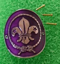 Scouts of UK World Scouting Logo Hiking Stick Medallion w/3 Mini Nails