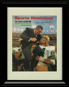 Framed Vince Lombardi - Green Bay Packers SI Autograph Promo Print