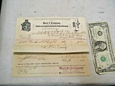 2 - 1887 Post & Company Railway Supplies & Ohio Valley Construction Co. Receipts