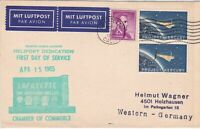 United States 1965 Heliport Dedication FDService Airmail 3xStamps Card ref22825