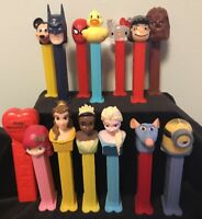 Lot Of 14 Pez Dispensers Disney Star Wars Batman Spiderman Hello Kitty +++