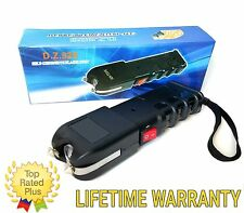 Black 525 Million Volt Rechargeable Police Stun Gun w/ LED Light + taser Case