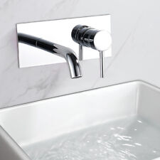 Modern Bathroom Taps Wall Mounted  Waterfall Tap Chrome Basin Sink Mixer Faucet