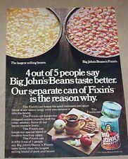 1975 print ad - Hunt's Big John's beans Hunt-Wesson Foods vintage Advertising