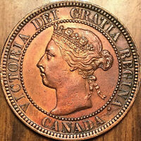 1899 CANADA LARGE CENT 1 CENT PENNY - Superb example! Cleaned