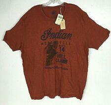Lucky Brand Mens Burnout Santa Pin up Graphic Tee T-Shirt American Navy