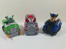 Paw Patrol Racer Vehicle Lot (3) Rocky ♻️ Marshall 🚒 Chase 🚨 Spin Master 16605
