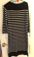 Ralph Lauren Polo Women's Dress Size M  Knee Length Black and White Long Sleeve