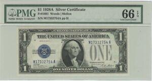 1928A $1 Silver Certificate PMG 66 EPQ Gem Unc