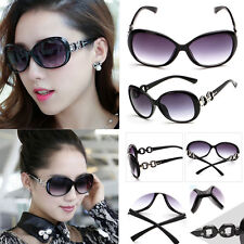 bright black Eyewear Retro Vintage Oversized Women Designer Sunglasses Glasses