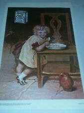 Kelloggs Toasted Corn Flakes Color Advertising Poster Art 1976 Reprint Free Ship