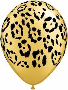 "12 PACK Leopard Print Balloons 12"" Theme Party Decor, Safari Jungle Puma panther"