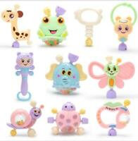 8Pcs/set Portable Baby Rattles Teether Shaker Grab & Spin Rattle Toy Set