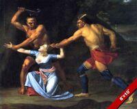 THE DEATH OF JANE MCCREA US REVOLUTIONARY WAR OIL PAINTING ART REAL CANVAS PRINT
