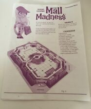 Milton Bradley Mall Madness 2004 original instructions Replacement Part