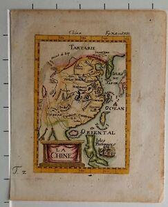1719 ANTIQUE MAP CHINA ALLAIN MANESSON MALLET LA CHINE DESCRIPTION DE L'UNIVERS