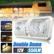 12V 48 LED Double Dome Roof Ceiling Interior Light RV/Boat/Camper/Trailer/Van AU