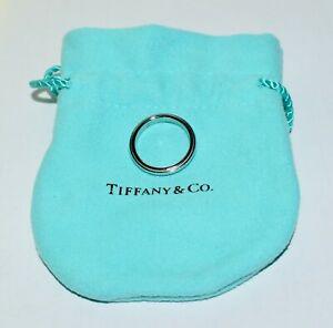 As New Tiffany & Co 950 Platinum Classic Milgrain 3mm Wedding Band Ring Sz H