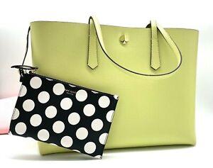 Auth NWT Kate Spade Molly Bikini Dot Pop Large Work Shopper Tote In Lemonsorbet