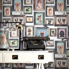 NEW RASCH PUPPY LOVE DOGS IN FRAMES PATTERN PICTURE FRAME MOTIF WALLPAPER 272703