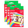 3 Packs 60 Instant Photos Rainbow Fuji FujiFilm Instax Wide Film Polaroid Camera