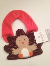 Carters Baby Boys Girls Thanksgiving Bib Brown Orange Layette Gift
