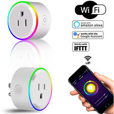 Mini Smart Socket Wifi Plug Outlet Timer Switch Socket Work w/ Echo Alexa Google