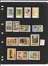 Antigua 1980-83 Art 3 sets mint