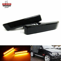 Smoked LED Side Marker Indicator Repeater Light For BMW M3 X5 E53 3 Series E36