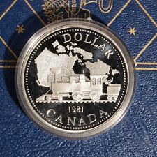 Canada 1981 SILVER Dollar PROOF .500 Fine