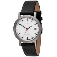 JOBO Herren Armbanduhr Bahnhofsuhr Titan Herrenuhr mit Datum