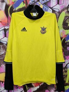 Ukraine National Football Team Soccer Longsleeve Jersey Adidas 2015 Mens size L
