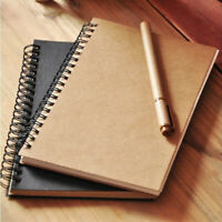 50 Pages Notebook Paper Sketch Book Drawing Journal Painting Notepad Black Spira