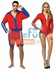 Couples Costumes Baywatch Lifeguard Adult Beach Bathing Suit Halloween