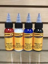 Eternal Tattoo Ink 4 Color 1 Ounce Professional USA FLAG COLORS 100% Authentic