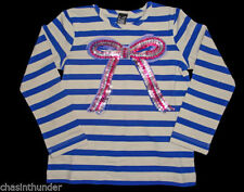 Girls' Crew Neck Striped Stretch T-Shirts, Top & Shirts (2-16 Years)