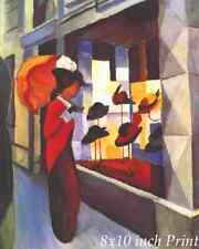 The Hat Store by August Macke - Women Window Shop Parasol 8x10 Print 2645