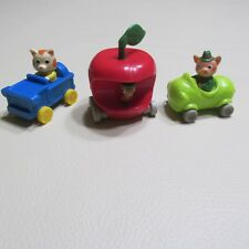 LOWLY WORM~FRUMBLE~HUCKLE¤FIGURES CARS VEHICULE RICHARD SCARRY SET LOT MCDONALDS