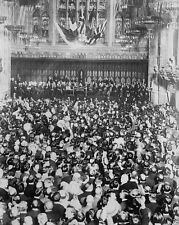Recruitment meeting Guildhall London PM Asquith 1914 World War I WWI 8x10 Photo