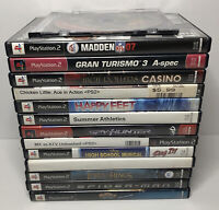 HUGE Lot of 14 PlayStation 2 PS2 Games Madden Spider Man Lord Of The Rings ATV